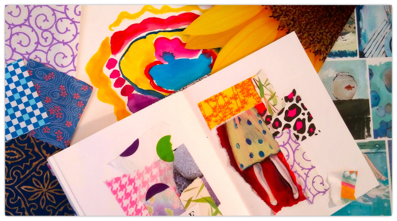 Collage Scrap Journal - Shelley Klammer