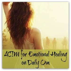 ACIM para a Cura Emocional