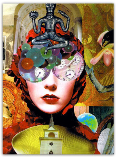 Intuitive Collage by Shelley Klammer