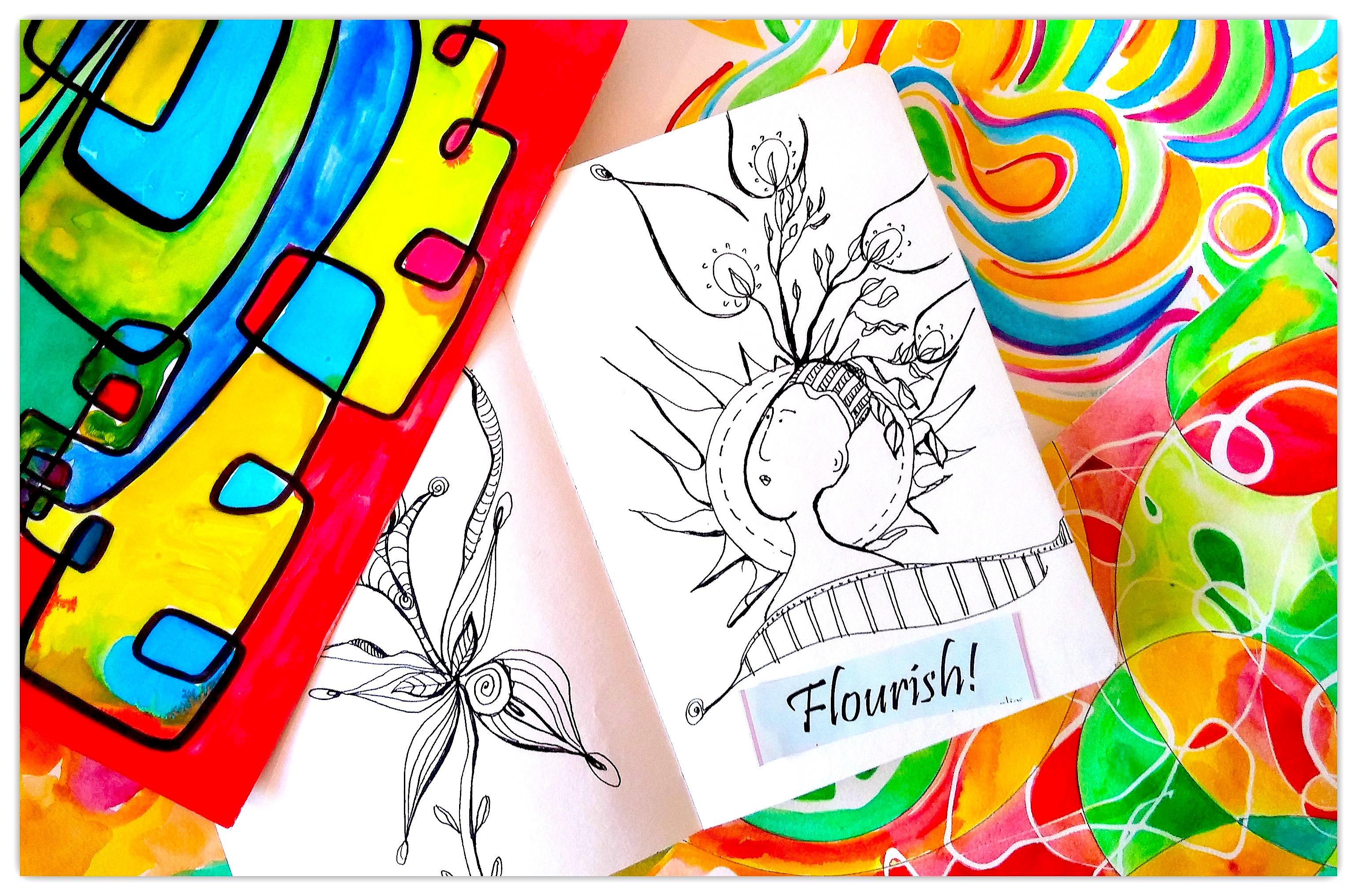 Flourish   Expressive Art   Shelley Klammer
