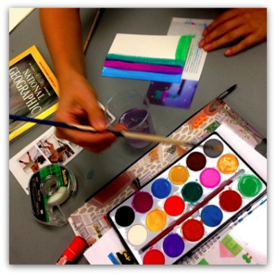Expressive Arts Facilitation - Painting and Collage Workshop
