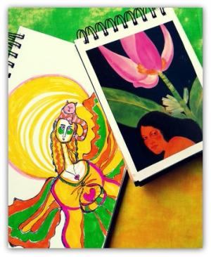 Dive Deep Expressive Art Journal Course