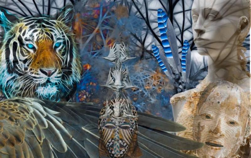 Viagem Xamânica - Digital Colagem - Shelley Klammer