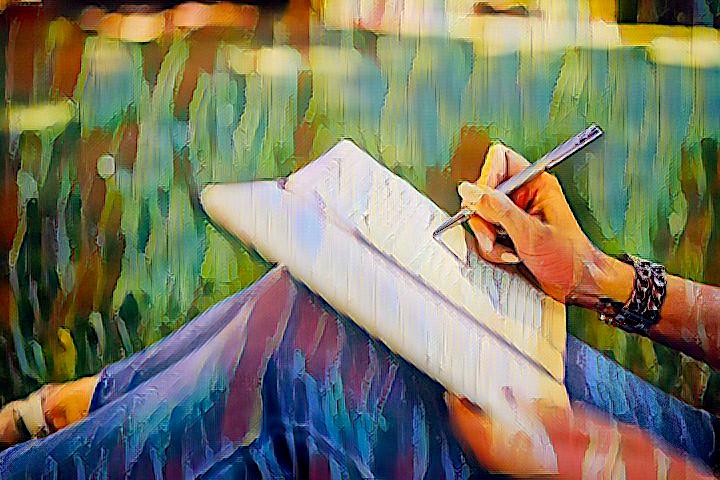 Journaling painting